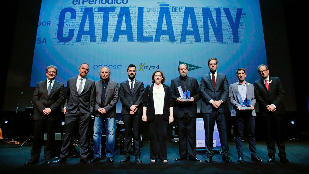 Resumen de la Gala del Català de L'any 2016-2017. Oriol Mitjà y Josep Mª Pou, los galardonados.