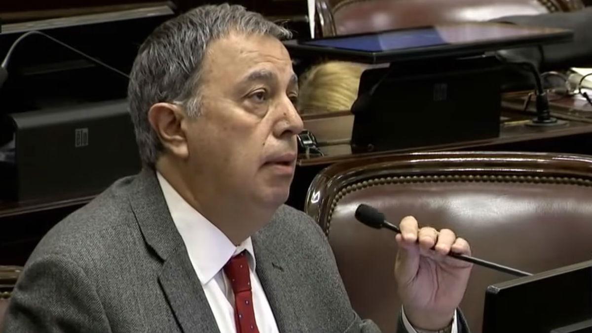 Rodolfo Urtubey, durante su intervención en el debate de la ley del aborto en el Senado argentino.