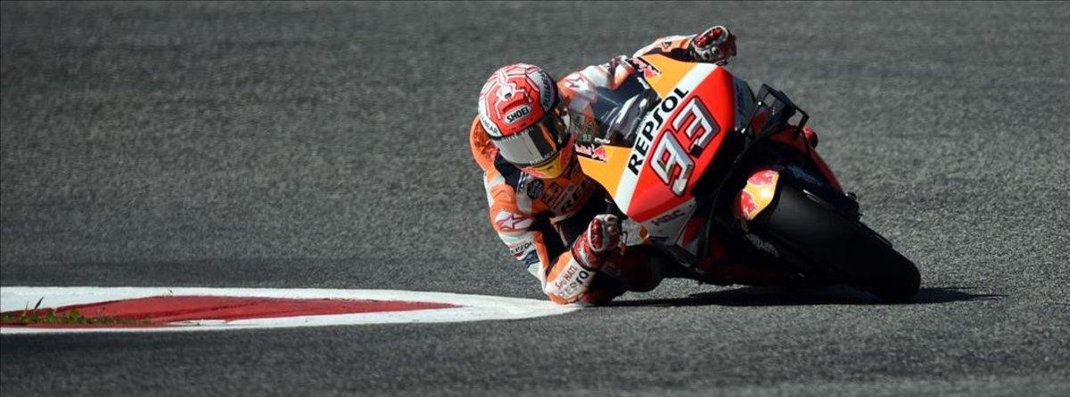 Marc Márquez en la celebración del Moto GP de Austria.