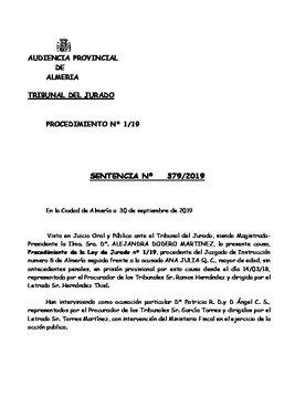 Sentencia de la Audiencia de Almería contra Ana Julia Quezada