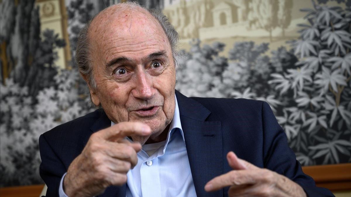 Sepp Blatter, en Zúrich en mayo de este 2019.