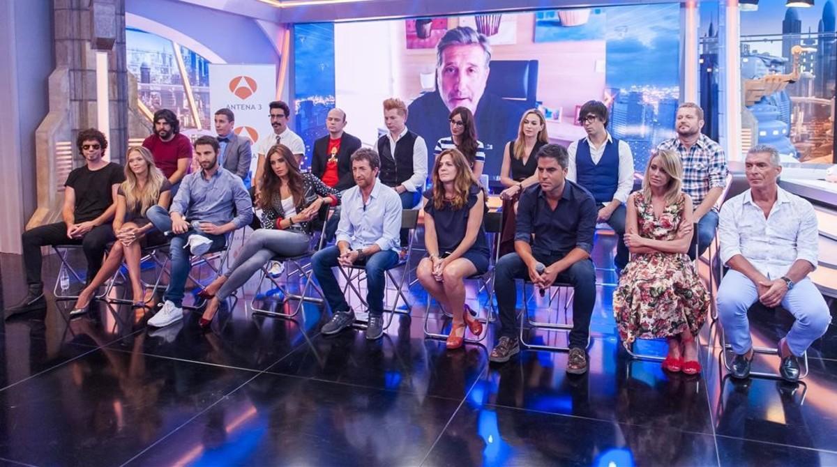 El equipo de El hormiguero, programa de Antena 3 galardonado con el Premio Nacional de Televisión en el 2016.