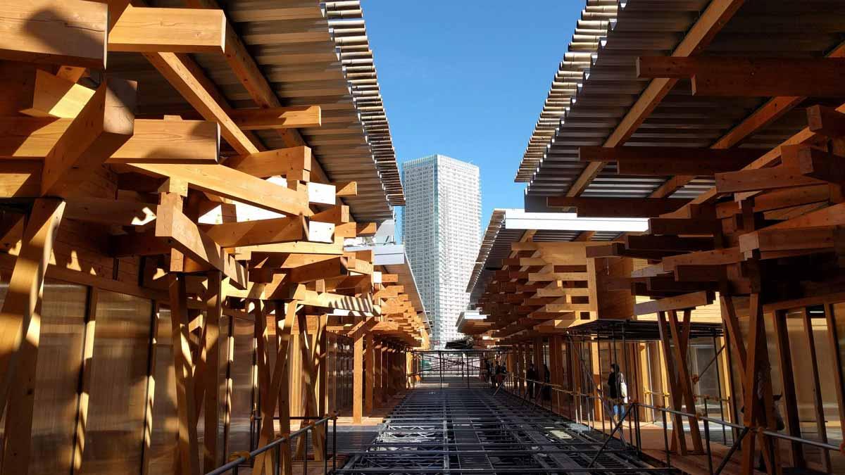 Tokio 2020 presenta una plaza reciclable como centro de la Villa Olímpica.
