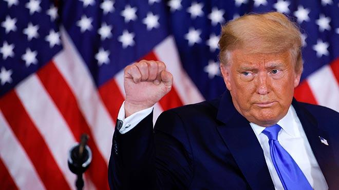 Trump comparece y se autoproclama ganador sin conocer el resultado.