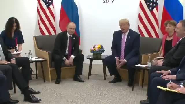 Trump y Putin durante su encuentro en el G20 en Osaka.