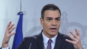 Pedro Sánchez, el pasado 14 de enero, en la Moncloa.