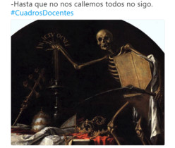 Los profesores ironizan sobre su día a día en las aulas con pinturas famosas