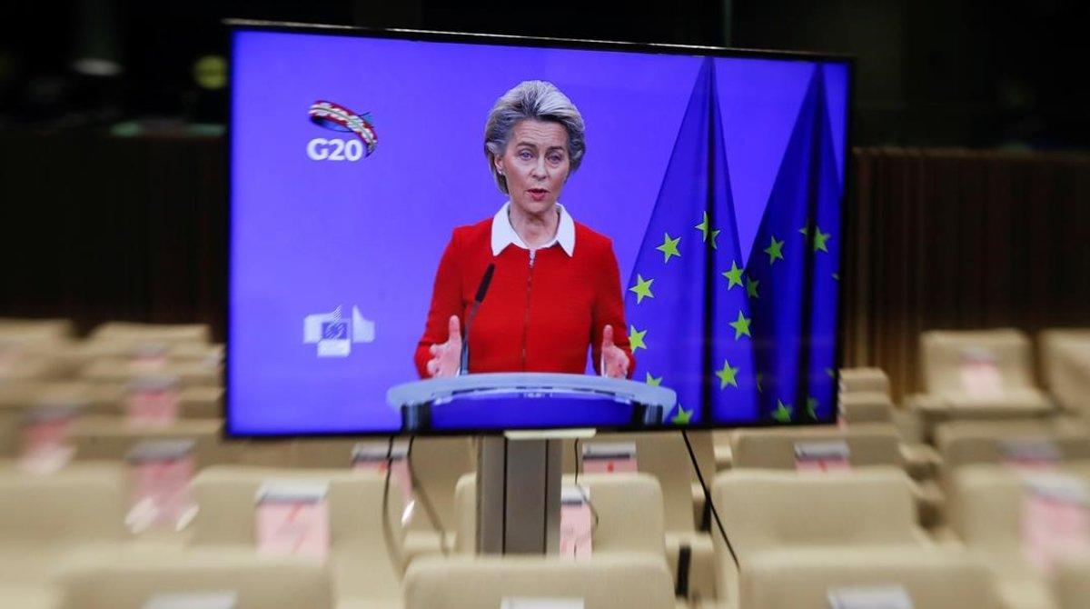 Úrsula Von der Leyen en el G-20.