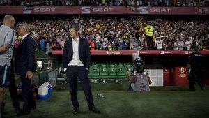 Valverde, tras perder la final de la Copa del Rey en Sevilla.