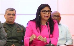 Delcy Rodríguez, la vicepresidenta de Veenzuela.