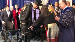 Ty Williams, el día de su graduación, este sábado.