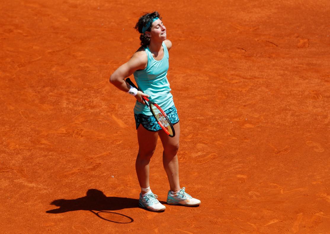 Carla Suárez, en su despedida de Madrid.
