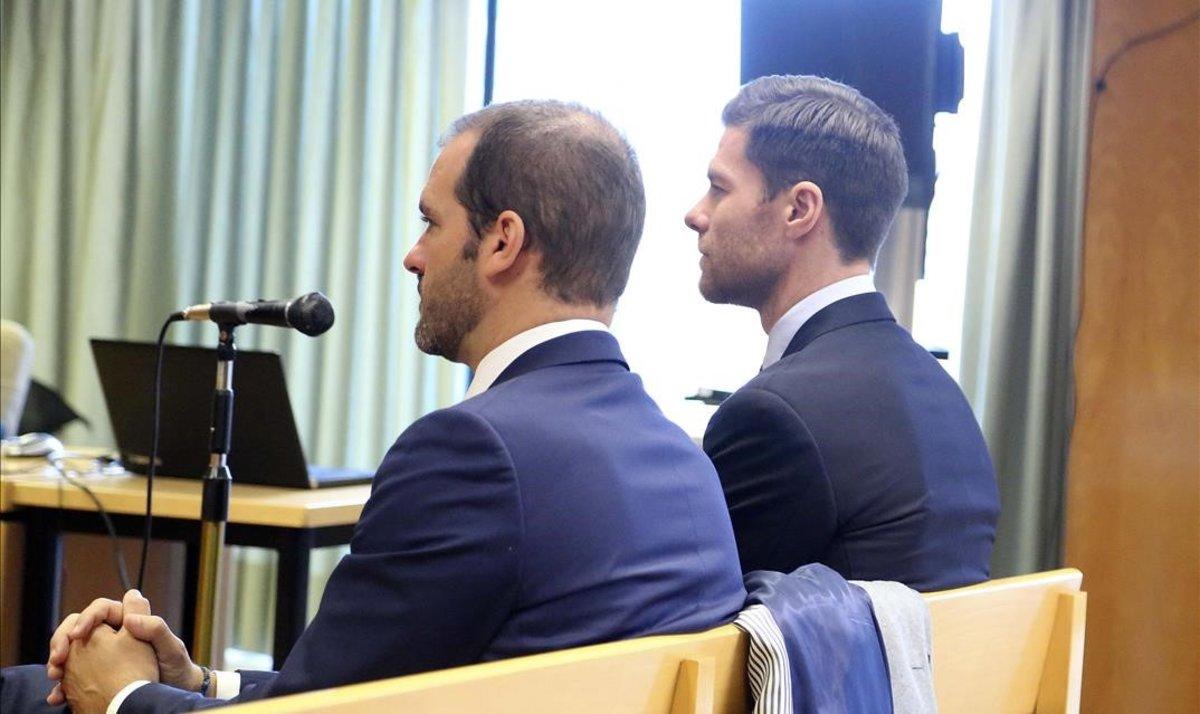 Xavi Alonso, durante el juicio en la Audiencia Provincial de Madrid.