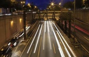 Un radar caça un 'fitipaldi' a 170 km/h a la Ronda de Dalt de Barcelona