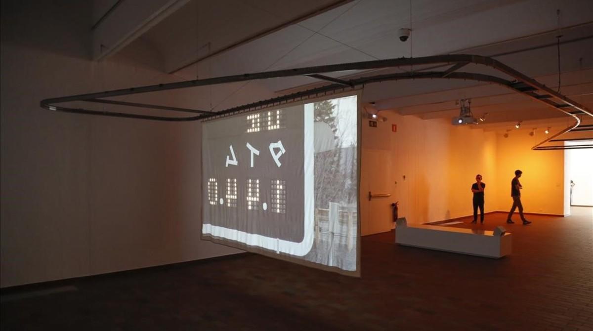 Mountain plain mountain, la pieza realizada por Daniel Jacoby y Yu Araki para la exposición.