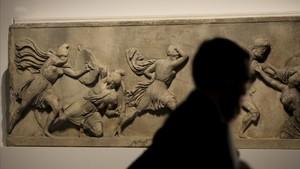 El fragmento del friso del Mausoleo de Halicarnaso nunca había salido del British Museum.