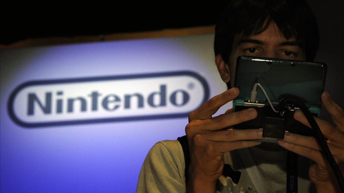 Estand de Nintendo en la Exposición de Entretenimiento Electrónica de Los Ángeles.