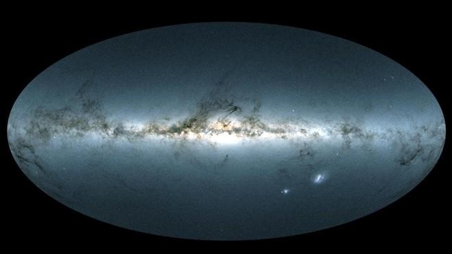 Vision de 360 grados de la galaxia de la cual forma parte la Tierra, laVíaa Láctea y sus contornos.