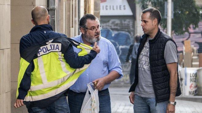 Víctor Terradellas, el 24 de mayo del 2018, cuando fue detenido por la policíatras el registro de Catmon.