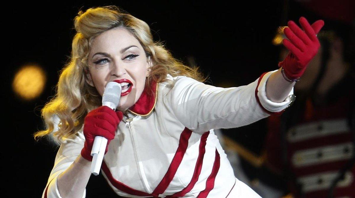 Madonna, en un concierto en el 2012 en Santiago de Chile.