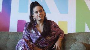 Rosalía, en la rueda de prensa del Primavera Sound, el viernes.
