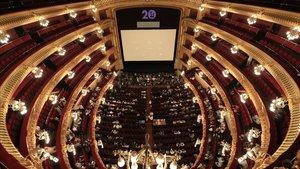 Imagen general del Liceu durante el ensayo general de 'Turandot', esteviernes.