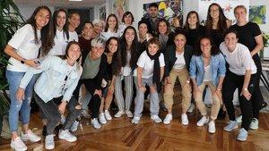 Foto de familia de las futbolistas de la liga Iberdrola, el 1 de octubre del 2019.