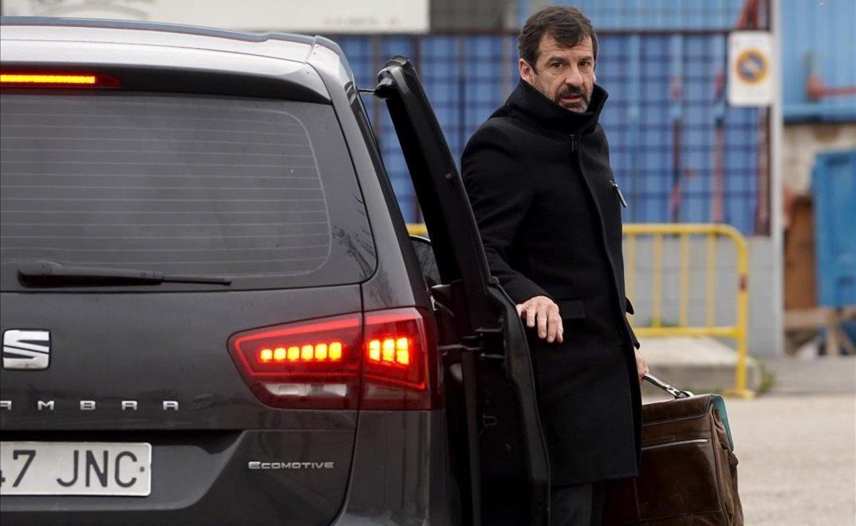 El comisario Ferran López a su llegada a la sede de San Fernando de Henares de la Audiencia Nacional.