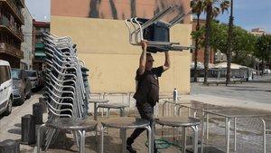 Dos de cada tres locals amb terrassa de Barcelona continuaran tancats