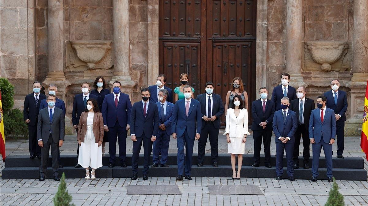 El rey Felipe VI ha presidido la Conferencia de Presidentes celebrada en La Rioja.