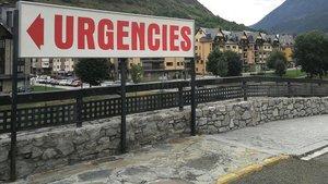 Zona de acceso a Urgencias del Hospital de la Val d'Aran de Vielha.