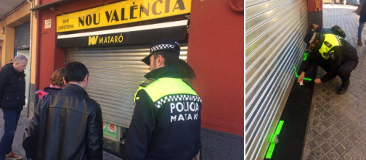 Cierre de un bar en la calle de Valencia.