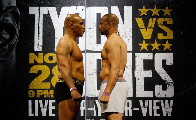 Mike Tyson conserva la mirada del tigre en su combate de regreso