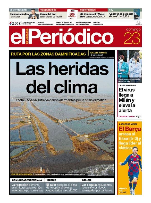 Prensa de hoy: Las portadas de los periódicos del domingo 23 de febrero del 2020