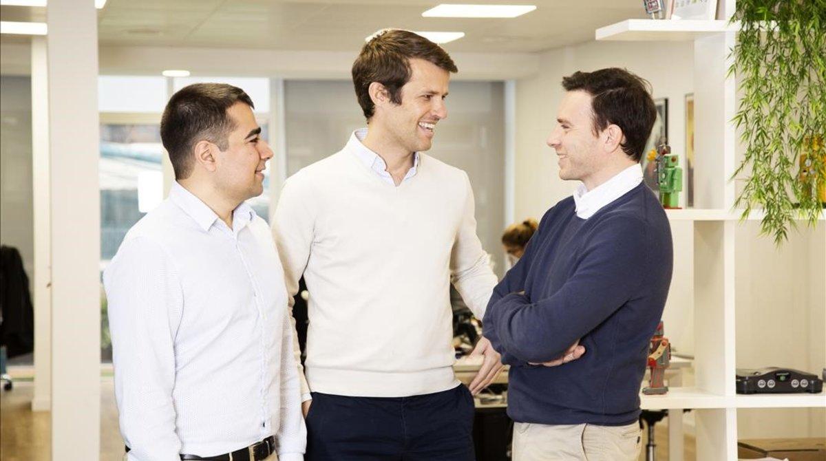 Albert Morcillo,Nacho Rodés y Pablo Callejón,fundadores de Spaceboost.