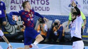 Andersson, en el Barça-Ademar Leon de la Copa Asobal en Valladolid.