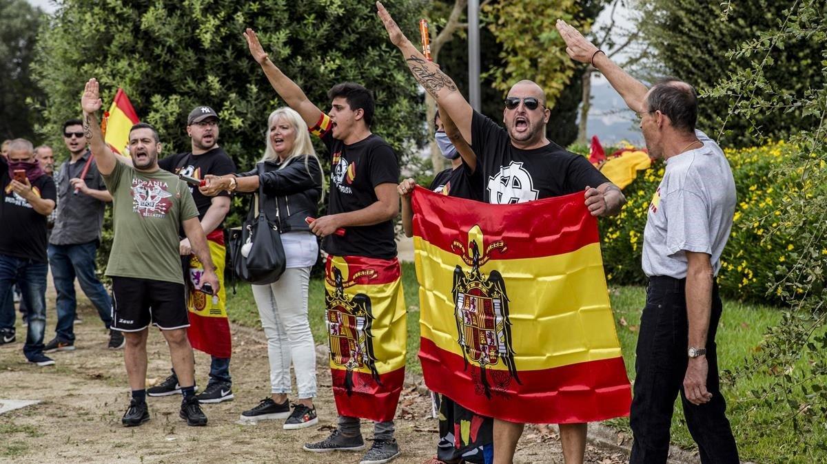 Asistentes a la marcha ultra en Barcelona.