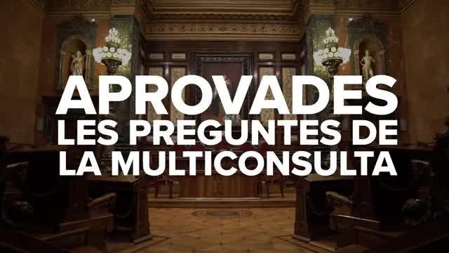 El Ayuntamiento de Barcelona aprueba las preguntas de la MultiConsulta.