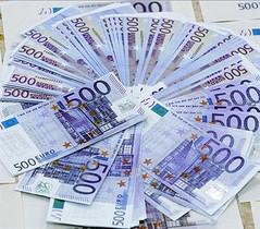Billetes de 500 euros.
