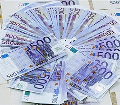 Bitllets de 500 euros, els més utilitzats per evadir impostos.