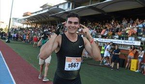 Bruno Hortelano, en la última carrera que disputó hace un año en Getafe