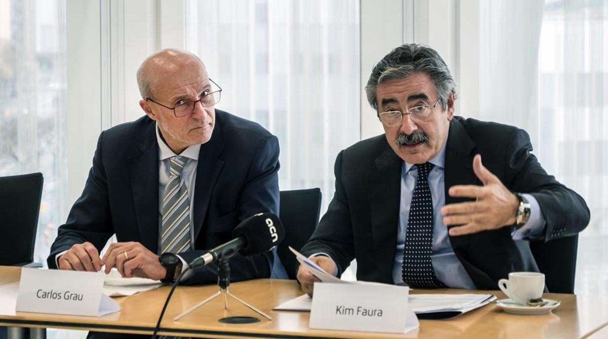 Carlos Grau (Mobile World Capital Barcelona) y Kim Faura (Telefónica).
