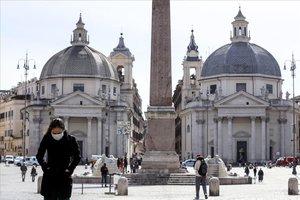 El centro de Roma, sin apenas turistas.