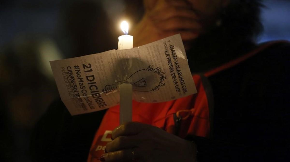 Manifestación contra la pobreza energética.