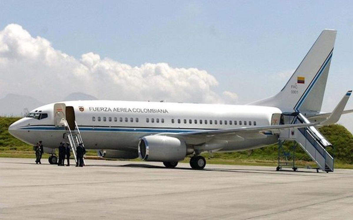 El avión persidencial de Colombia.