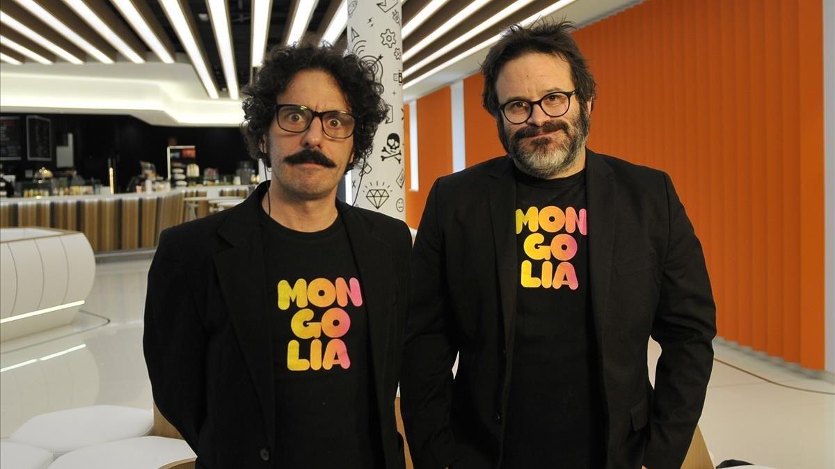 Darío Adanti y Edu Galán, de la revista 'Mongolia'.