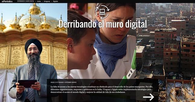 La pantalla inicial de 'Derribando el muro digital'. El proyecto de 'scrollytelling' es un referente en el nuevo periodismo multimedia.