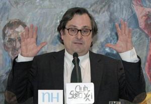 El director del diario La Razón, Francisco Marhuenda, en un acto en Madrid, en el 2013.