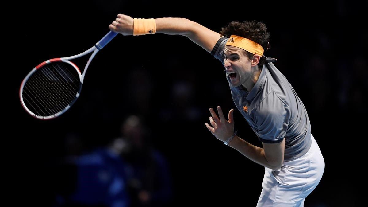Dominic Thiem en la Final de tenis de la ATP World Tour en Londres