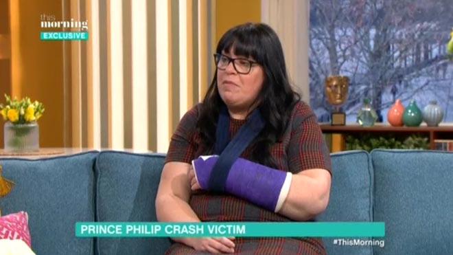 Emma, víctima del accidente del duque de Edimburgo, lamenta que la realeza no se haya disculpado.